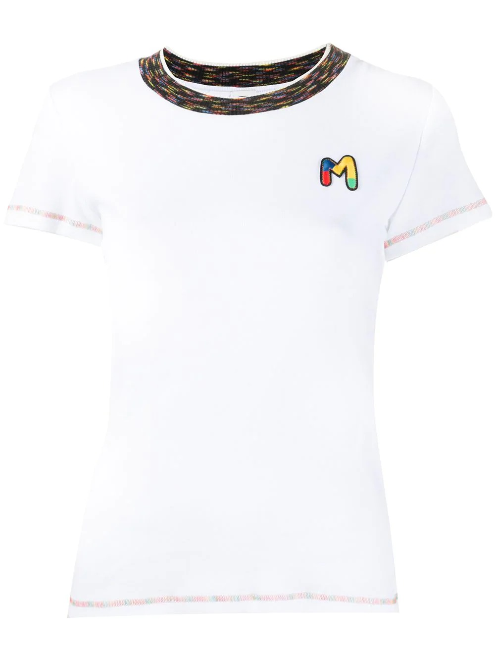 logo patch T-shirt-simple caracters-m missoni