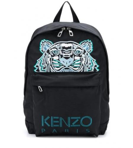 logo-embroidered backpack-kenzo_simple-caracters.gr