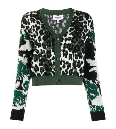mix-pattern intarsia knit cardigan-kenzo-simple caracters