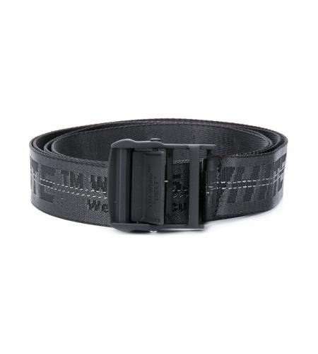 jacquard logo Industrial belt-off-white-simple-caracters