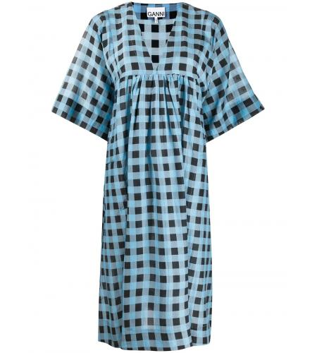 checkered tent midi dress-ganni-simple caracters