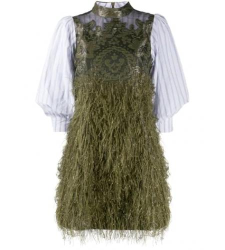 feathery mini dress-simple caracters-ganni