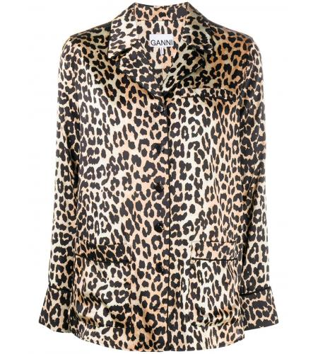 leopard print buttoned shirt-ganni-simple caracters