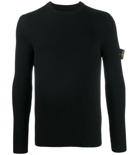 logo patch wool jumper-stone island-simple caracters