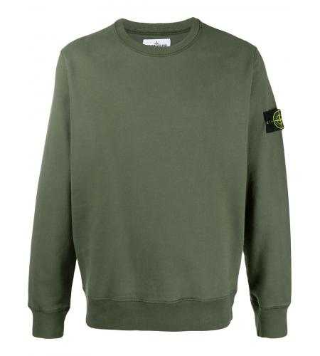 compass-patch crewneck sweatshirt-stone island-simple caracters