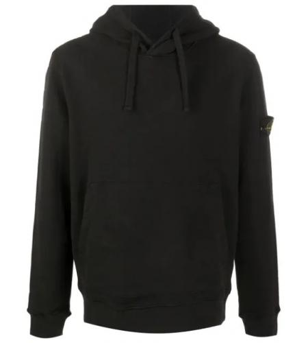 sleeve logo patch hoodie-stone island-simple caracters