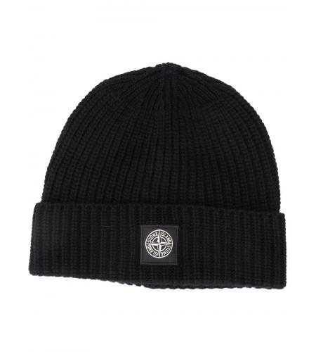 ribbed wool beanie hat-stone island-simple caracters