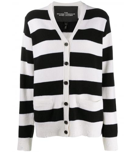 striped long-sleeve cardigan-simple caracters-marc jacobs
