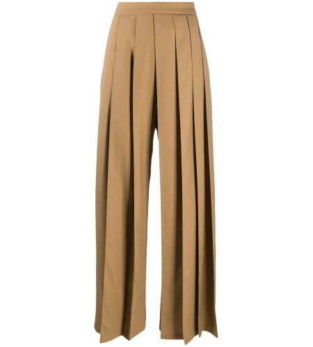 pleated flared trousers-simple caracters-kirin
