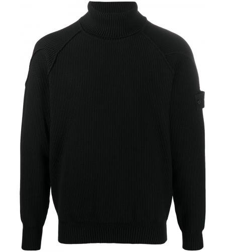 ribbed knit jumper-simple caracters-stone island