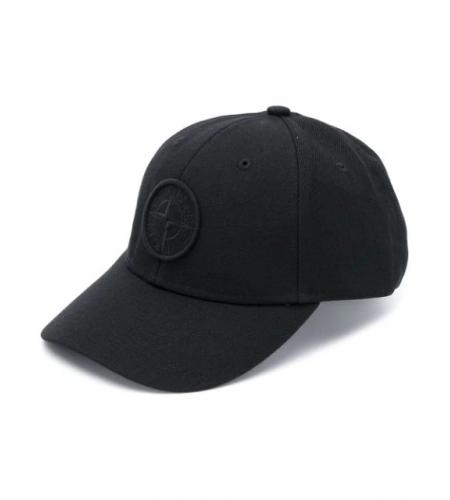 logo patch baseball cap-simple caracters-stone island