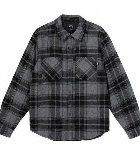 max plaid quilted shirt-simple caracters-stussy