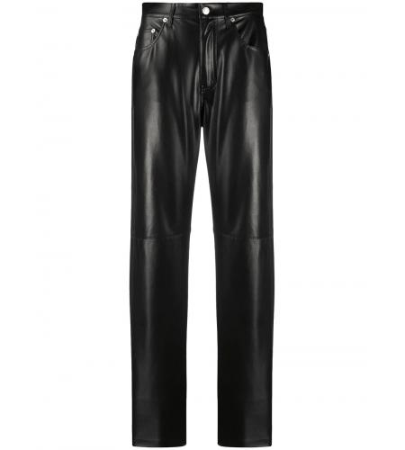 Vinni leather-effect trousers-simple caracters-nanushka