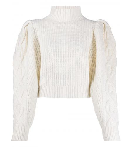 balloon sleeve cropped jumper-simple caracters-wandering