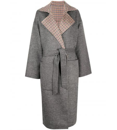 reversible check coat-simple caracters-nanushka