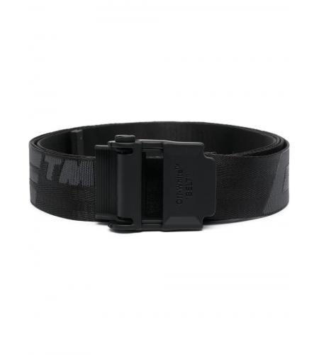 Industrial logo belt-simple caracters-off white