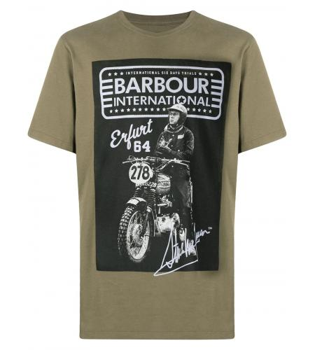 graphic-print cotton T-shirt-simple caracters-barbour