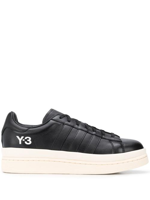 Hicho leather platform sneakers-simple caracters