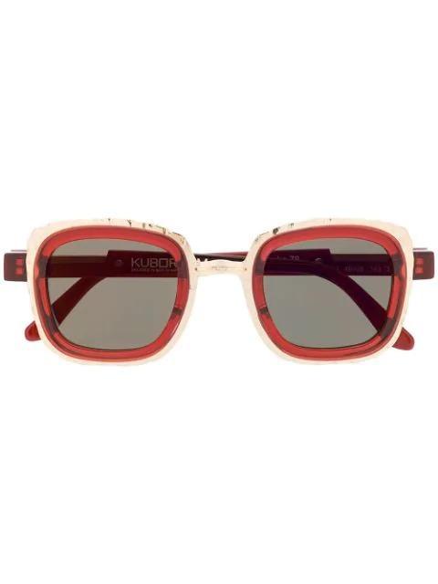 square-frame sunglasses-Kuboraum_simple-caracters.gr