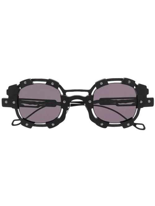 hardware round frame sunglasses-Kuboraum-simple-caracters
