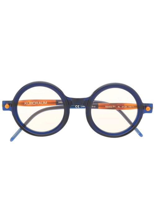 contrast round-frame glasses-Kuboraum_simple-caracters.gr