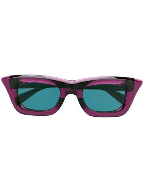 square-frame sunglasses-Kuboraum-simple-caracters
