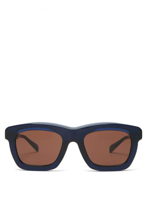 Square acetate sunglasses-kuboraum-simple caracters