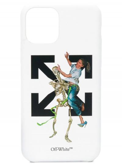 Pascal Skeleton iPhone 11 Pro case-off-white-simple-caracters