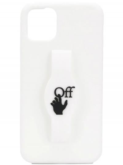 logo-print iPhone 11 Pro Max case-off-white_simple-caracters.gr