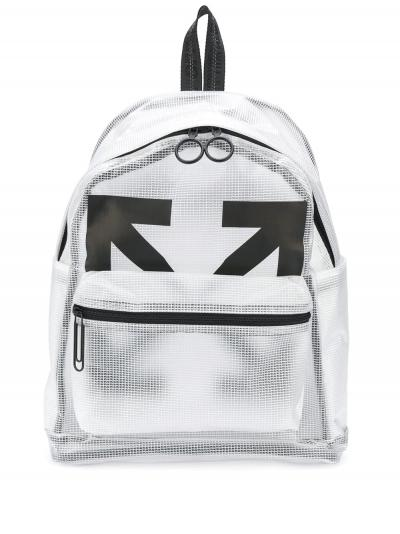 Arrows mesh backpack-simple caracters-off white