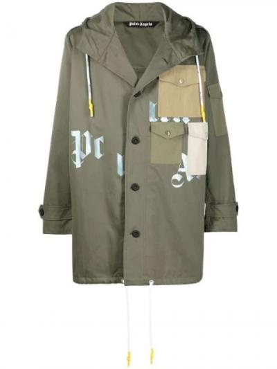 MILITARY PARKA MILITARY BEIGE-simple caracters-palm angels