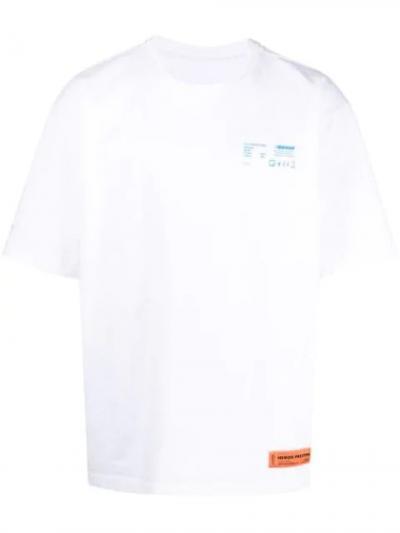 rear graphic print T-shirt-simple caracters-heron preston