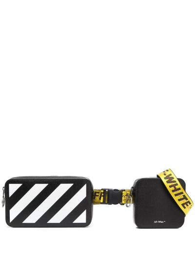 zip pocket belt bag-simple caracters-off white
