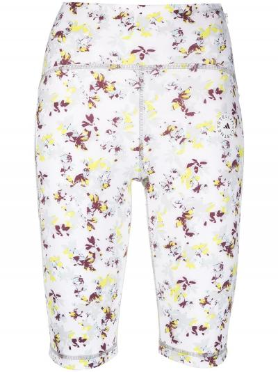 floral-print compression shorts-simple caracters-adidas
