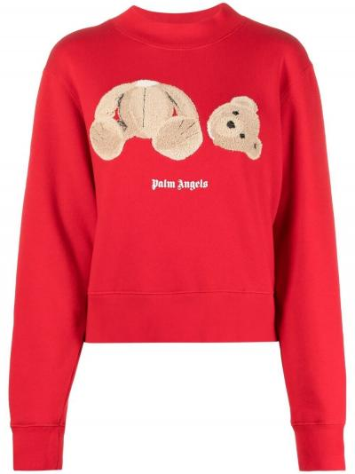 Palm Angels Bear Fitted Crew_Simple Caracters_Palm Angels_PWBA016S21FLE001